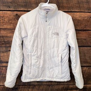 The North Face puffer jacket, white